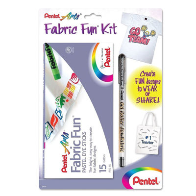 PLPTS15BNABP Fabric Fun Kit - Contains (1) Fabric Fun & (1) Gel Roller for Fabric, Black Ink