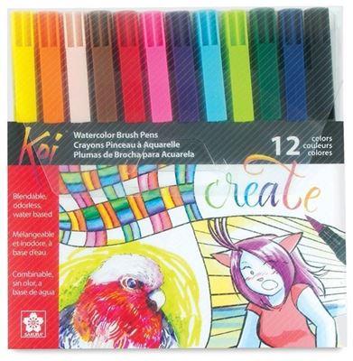 SKXBR-12SA Sakura Koi Coloring Brush 12 Pc Set - 12 Colors