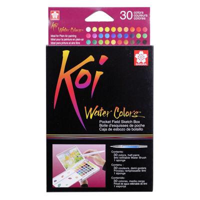 SKXNCW-30N Sakura Koi Water Color Pocket Field Sketch Box- 30 Colors
