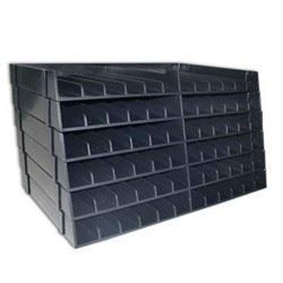 CCSPECN-UPT6 Spectrum Noir Universal Marker Storage - Box of 6 Black Trays