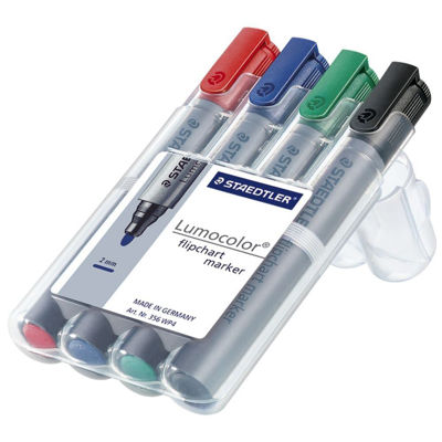 MS356WP4 Staedtler Lumocolor Flipchart Marker - Set of 4