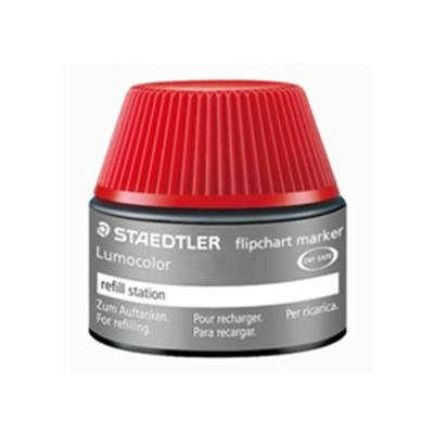 MS488 Staedtler Lumocolor Flipchart Refill Ink Non Perm 356 Series 30ml- Red