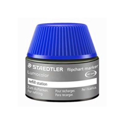 MS48856-3 Staedtler Lumocolor Flipchart Refill Ink Non Perm 356 Series 30ml- Blue