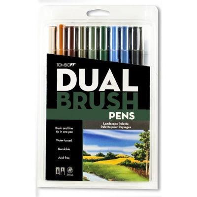 TB56169 Tombow ABT Dual Brush Pen 10 Set - Landscape