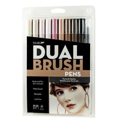 TB56170 Tombow ABT Dual Brush Pen 10 Set - Portrait
