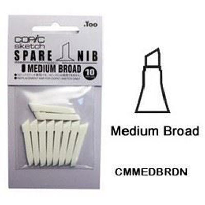 CMMEDBRDN Medium Broad Nib 10pk