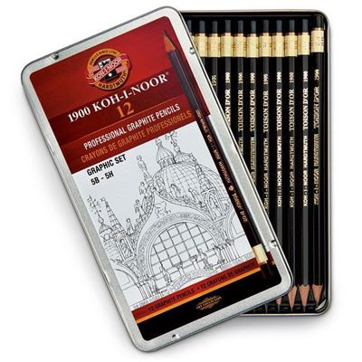 kofa1502111g-koh-i-noo-hardtmuth-graphic-pencil-set