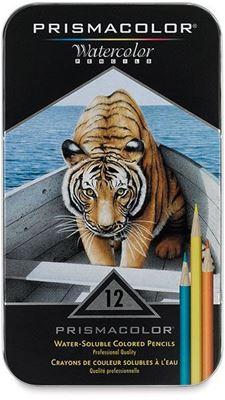 SA4064 Prismacolor Premier Water-Soluble Color Pencil 12 Set