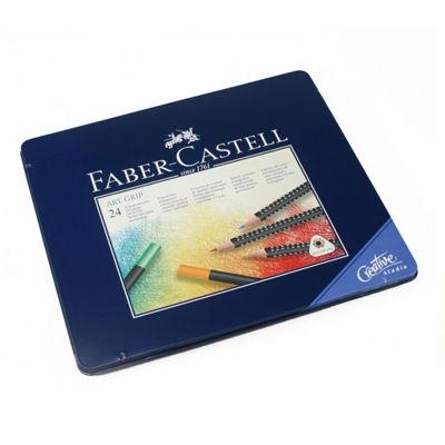 FC114324 Faber Castell ART GRIP Color Pencil 24 ct tin