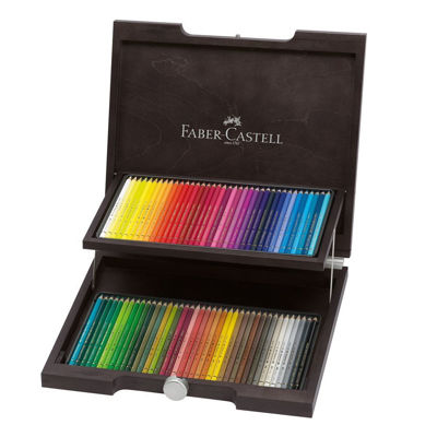 FC110072 Faber Castell POLYCHROMOS Artist Colored Pencil 72ct Wood Case