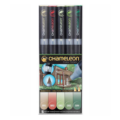 CLCT0514 Chameleon 5-Pen Nature Tones Set
