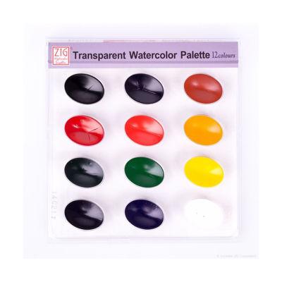 ZIG Transparent Watercolor Palette 12 Colors