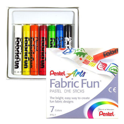 Pentel Arts Fabric Fun Pastel Dye Sticks - 7 Color Set