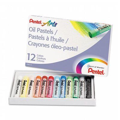 Pentel Arts Oil Pastels - 12 Color Set