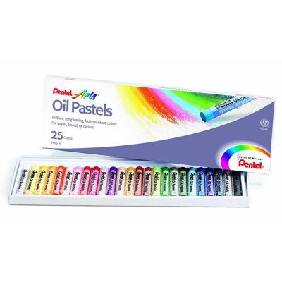 Pentel Arts Oil Pastels - 25 Color Set