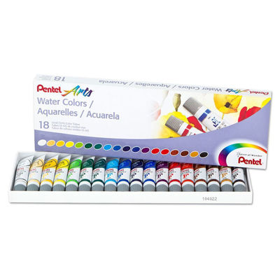 Pentel Water Colors Assorted Colors, 18-Pk