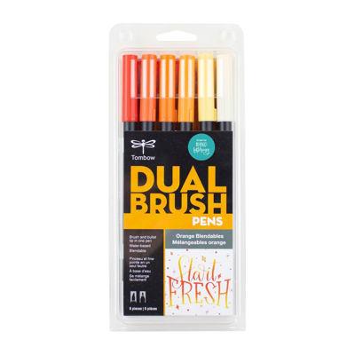 TB56220 Tombow Abt Dual Brush Pen 6 Set - Orange Blendables