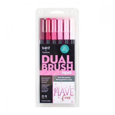 TB56223 Tombow Abt Dual Brush Pen 6 Set - Pink Blendables